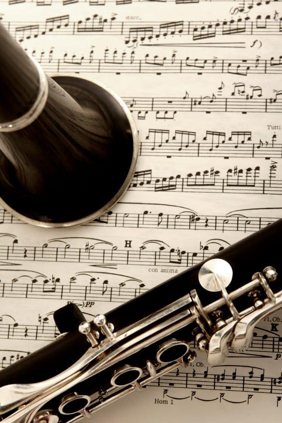 clarinet and sheet music